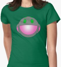 Heavy Metal Spaceship / Starship black outline, colour fill Womens Fitted T-Shirt