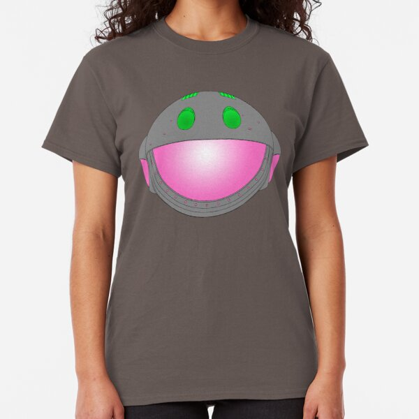 Heavy Metal Spaceship / Starship black outline, colour fill Classic T-Shirt