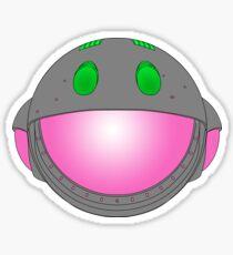 Heavy Metal Spaceship / Starship black outline, colour fill Sticker