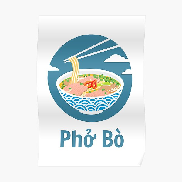 Vietnamese Pho Bo Poster
