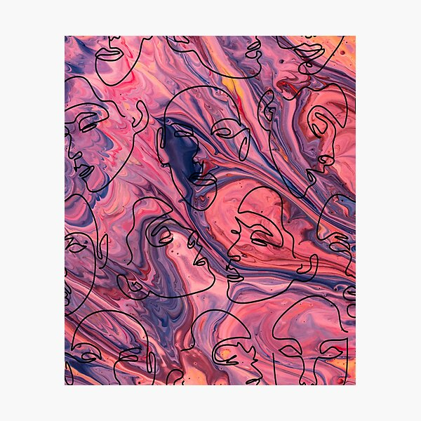 Abstralt face Photographic Print