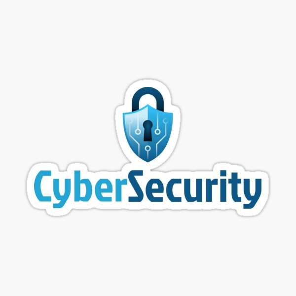 Cyber Security Lock Blue Sticker