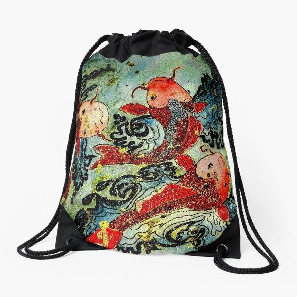 koi Drawstring Bag