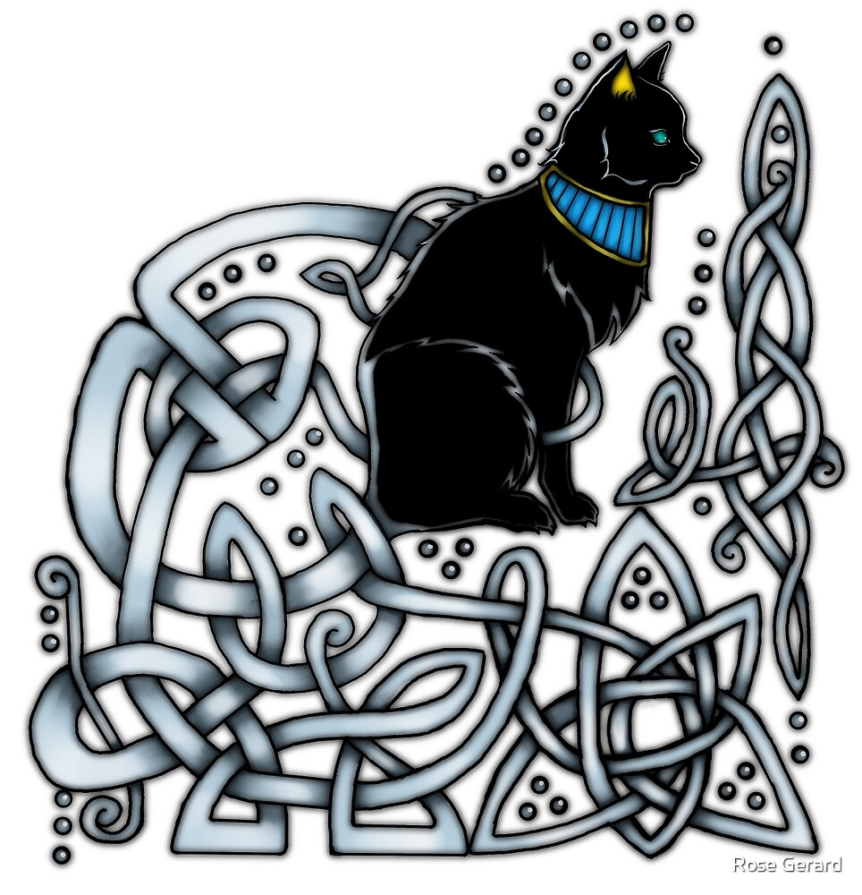 Celtic/Egyptian Cat by Rose Gerard