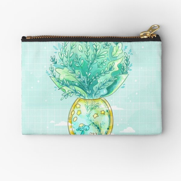 Tropical Fantasy Pineapple Terrarium with Sea Turtle, Clownfish and Stars Zipper Pouch