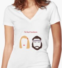The Royal Tenenbaums, Margot, & Richie Women's Fitted V-Neck T-Shirt