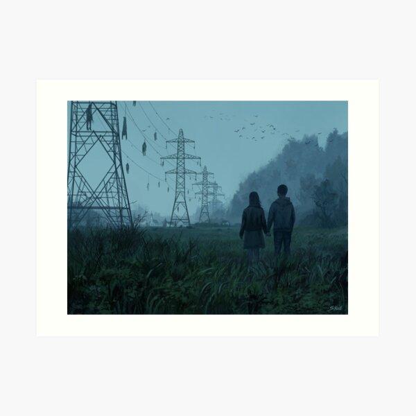 Electric pylons Art Print