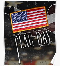 US Military Official Flag Day Poster Poster