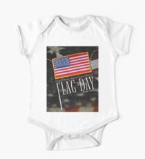 US Military Official Flag Day Poster One Piece - Short Sleeve