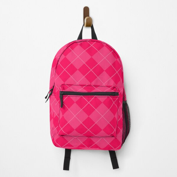 70s Pattern Pink Argyle Collection  Backpack