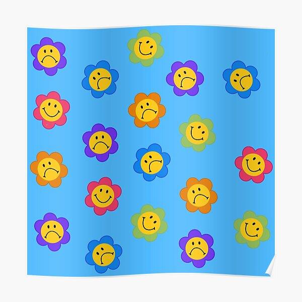 Fleurs de Smiley Poster
