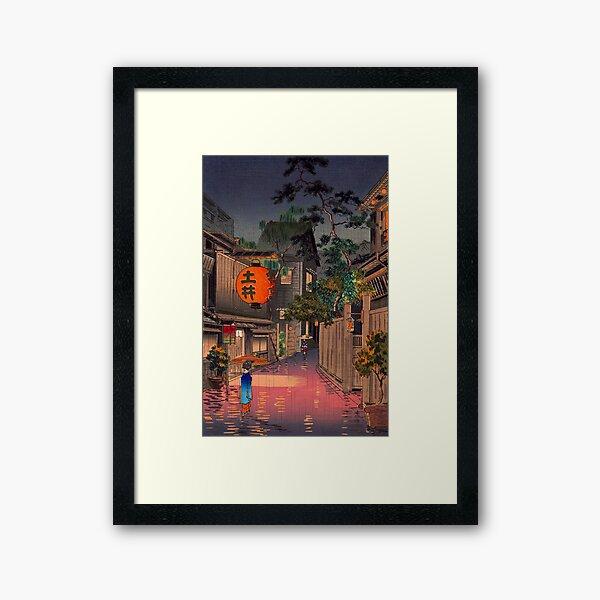 Tsuchiya Koitsu - Evening at Ushigome Framed Art Print