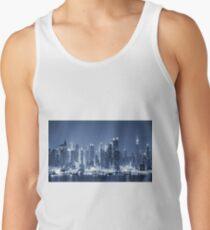 Panoramic New-York City Manhattan Night Skyline Tank Top