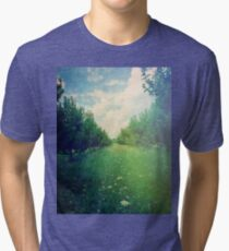 Apple Orchard in Spring Tri-blend T-Shirt
