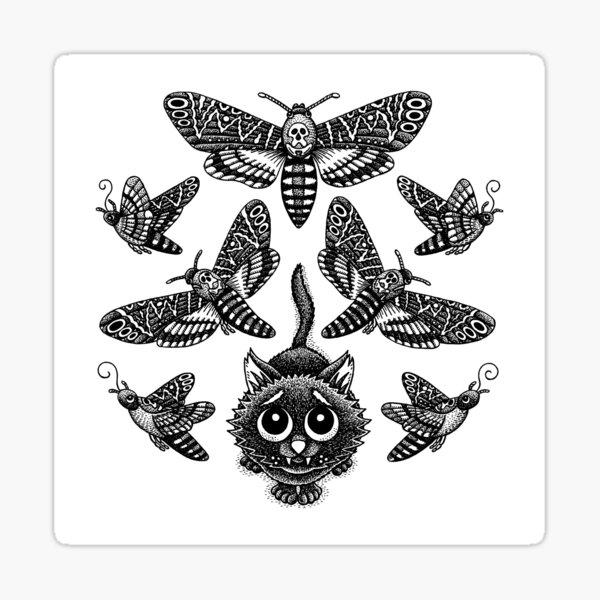 Tödlicher Mottenliebhaber Sticker
