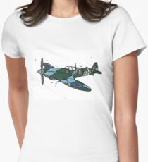 Spitfire Aeroplane Women's Fitted T-Shirt