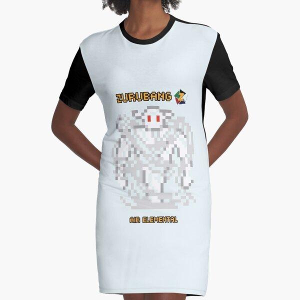 Air Elemental - Zurubang Graphic T-Shirt Dress