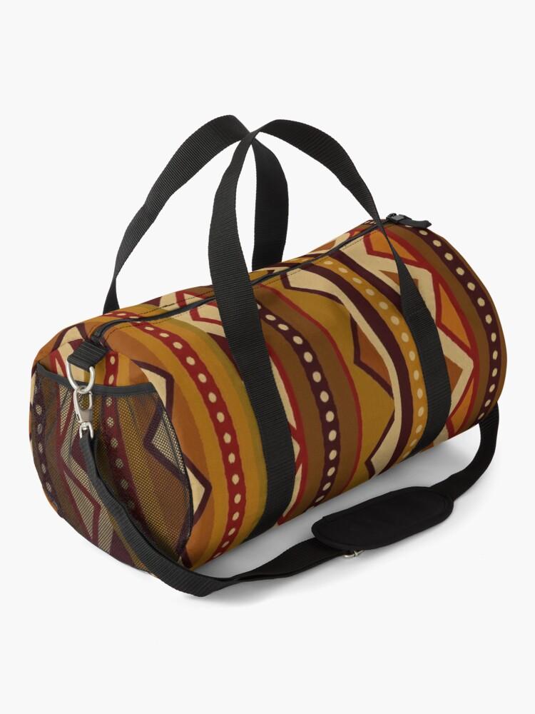 Alternate view of African border Duffle Bag