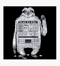 Sloth Pay Game Photographic Print