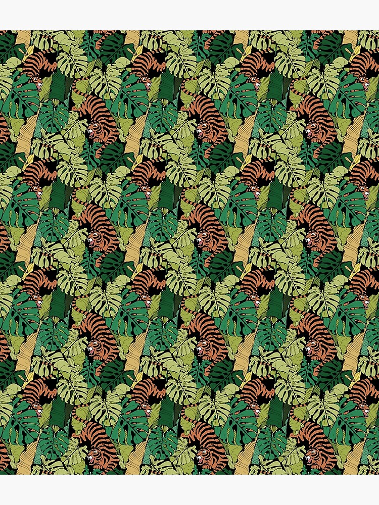 Tiger in the wild pattern by Fleed