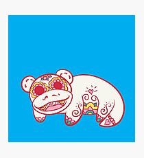 Slowpoke Pokemuerto | Pokemon & Day of The Dead Mashup Photographic Print