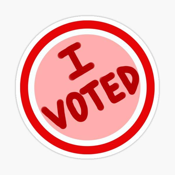 Among Us I Voted Sticker