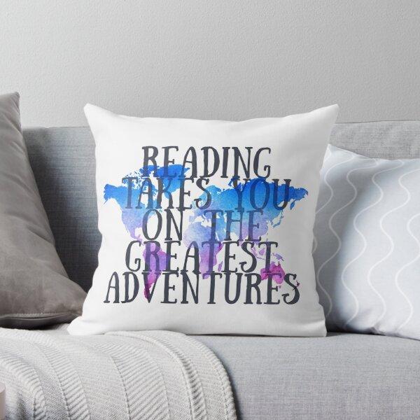 Das Lesen bringt dich auf die größten Abenteuer Dekokissen