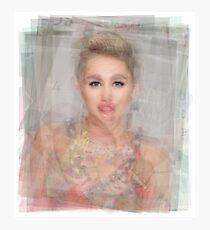 Miley Cyrus Portrait Photographic Print