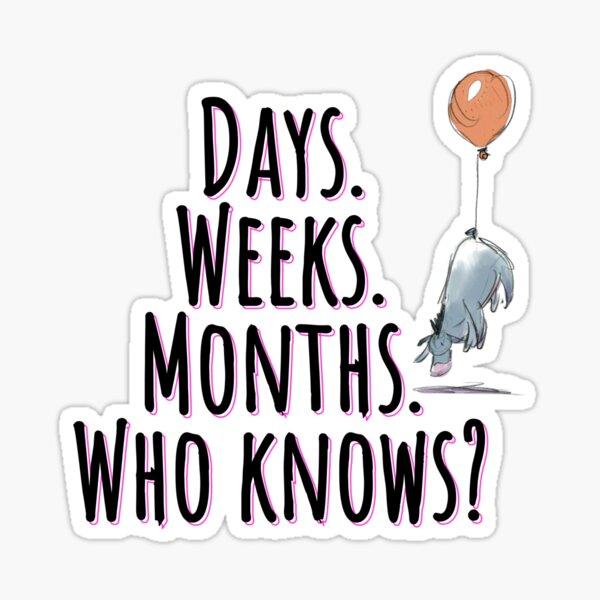 Days. Weeks. Months.  Who knows? Sticker