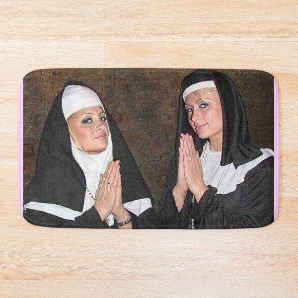 Paris Hilton and Nicole Richie nuns Bath Mat
