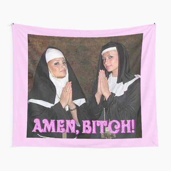Paris Hilton and Nicole Richie nuns Tapestry