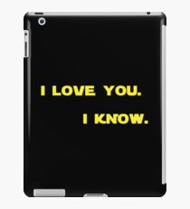 """I know."" iPad Case/Skin"
