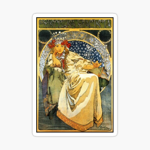 Alfons Mucha Princess Hyacinth Sticker