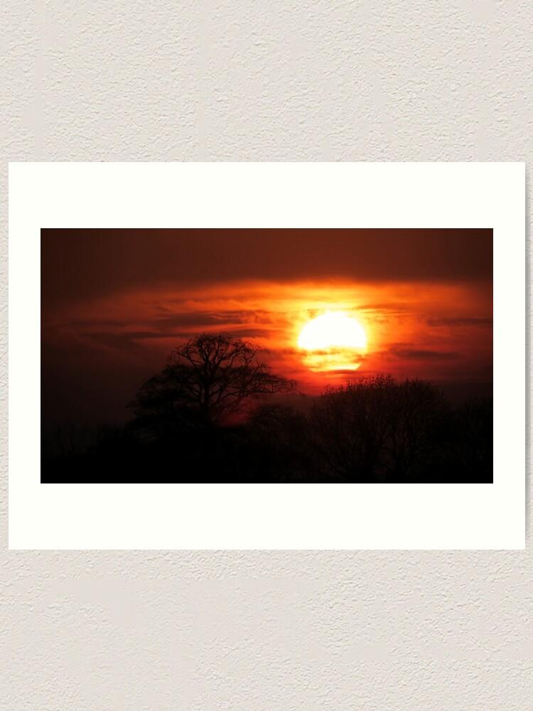 Alternate view of Fiery Sunset Art Print