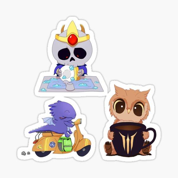 RPG creatures doing mundane things Sticker