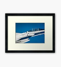 Armstrong Flight Research Center's F-15D Eagle Follows OLYMPEX Science Mission Framed Print