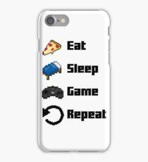 Eat, Sleep, Game, Repeat! 8bit iPhone Case/Skin