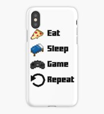 Eat, Sleep, Game, Repeat! 8bit iPhone Case