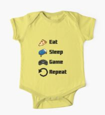 Eat, Sleep, Game, Repeat! 8bit Kids Clothes