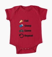 Eat, Sleep, Game, Repeat! 8bit One Piece - Short Sleeve