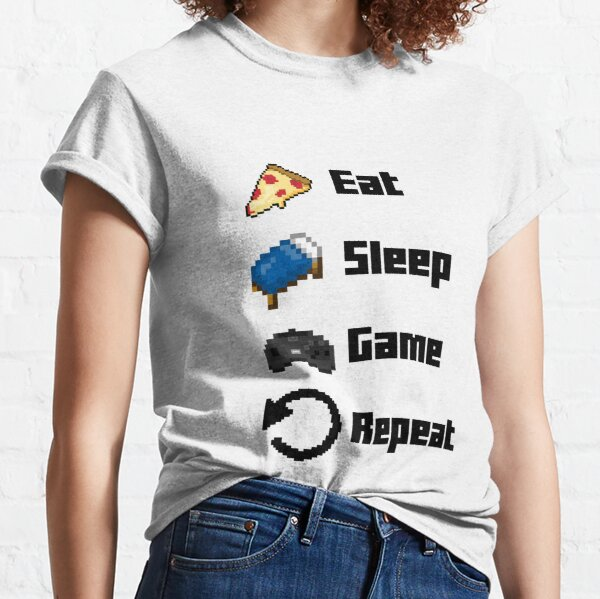 Eat, Sleep, Game, Repeat! 8bit Classic T-Shirt