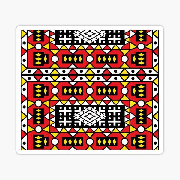 African pattern wax design Kizomba Samakaka Ankara print Angola Sticker
