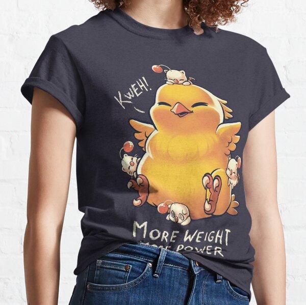 Funny Fat Chocobo - Big Power - Final Fantasy Summon Creature Classic T-Shirt