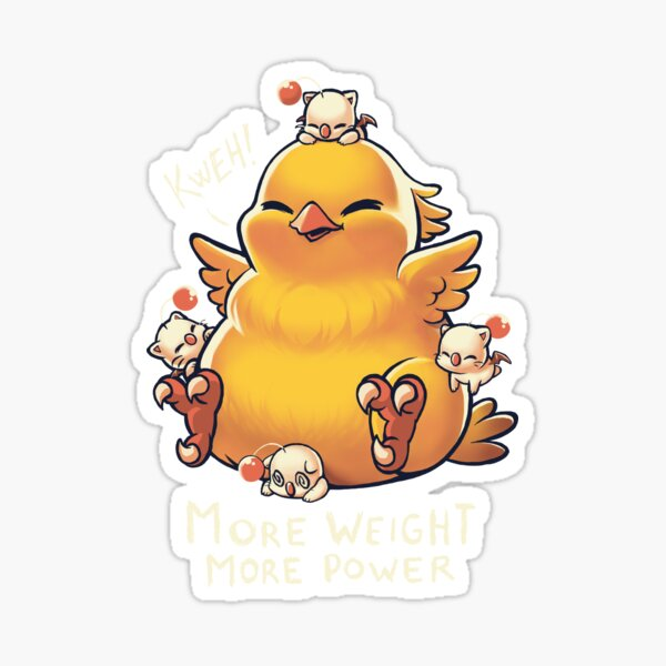 Funny Fat Chocobo - Big Power - Final Fantasy Summon Creature Sticker