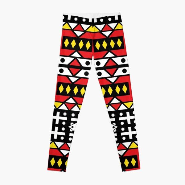 African wax design Samakaka Ankara print Angola Kizomba Leggings