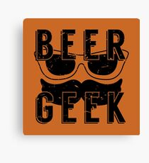 Beer Geek - Vintage Style Beer Poster Canvas Print