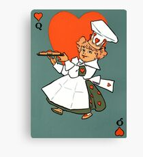 Queen of Hearts illustration 1901 Canvas Print