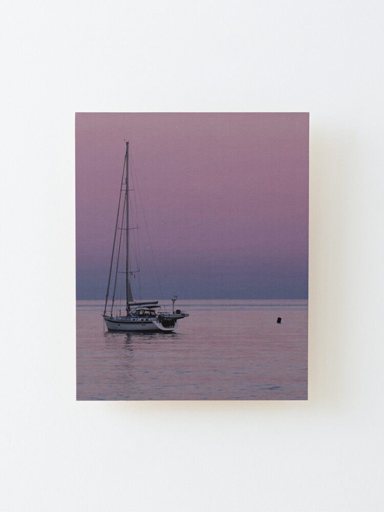 Alternate view of Purple Sunset Mounted Print