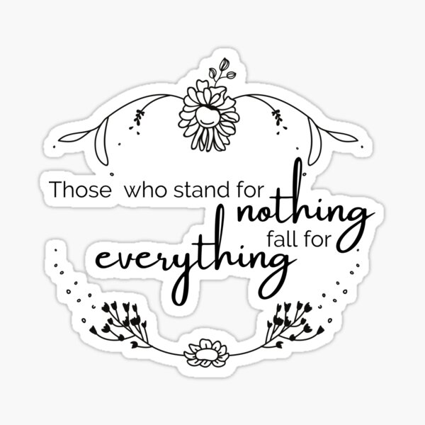 Those who stand.. Sticker