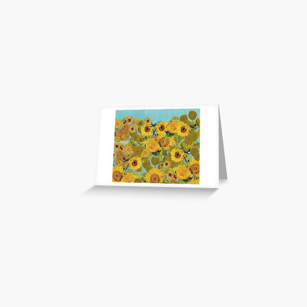 Sunflower collage design inspired by VIncent Van Gogh Greeting Card